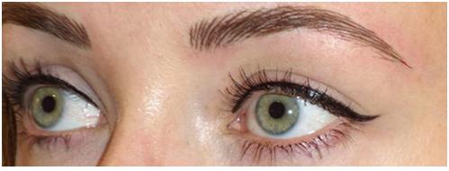 Dramatic Eyeliner and Hair-stroke Technique Eyebrows | Carolyn Elliott ...