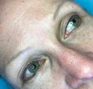 Before-Ombré Eyebrows (over previous work)