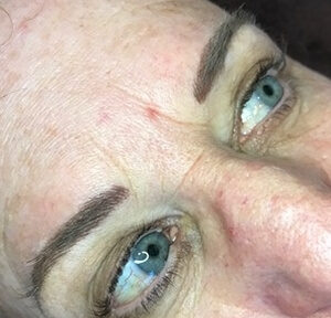 Hair-stroke Brows-after 2 year touch up