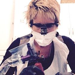 Carolyn Elliott at work 0001