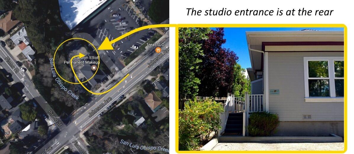 aerial view of 1333 Johnson Ave San Luis Obispo
